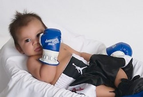 Boxing Gloves On For A Home Birth